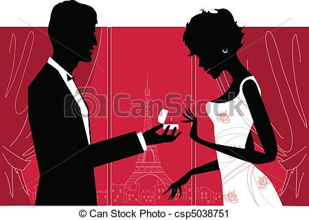 Kopel clipart engagement Vector Romantic Clip  Romantic