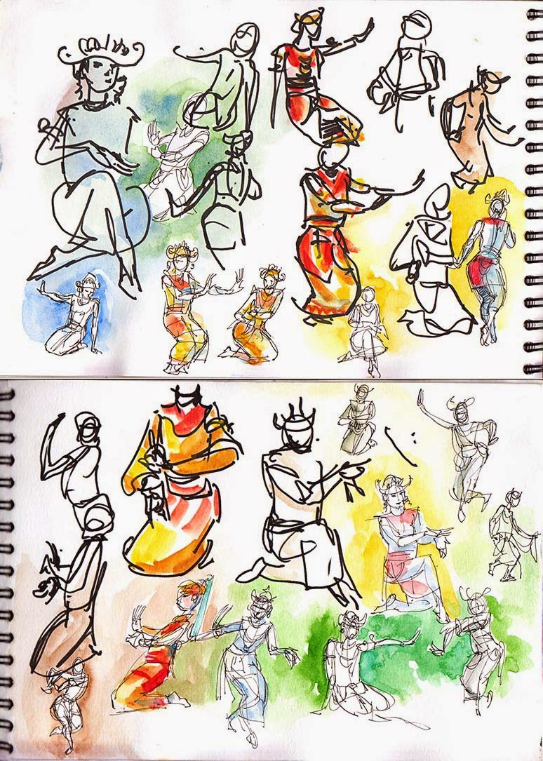 Kopel clipart garba DANCE School Media: A5 Watercolor