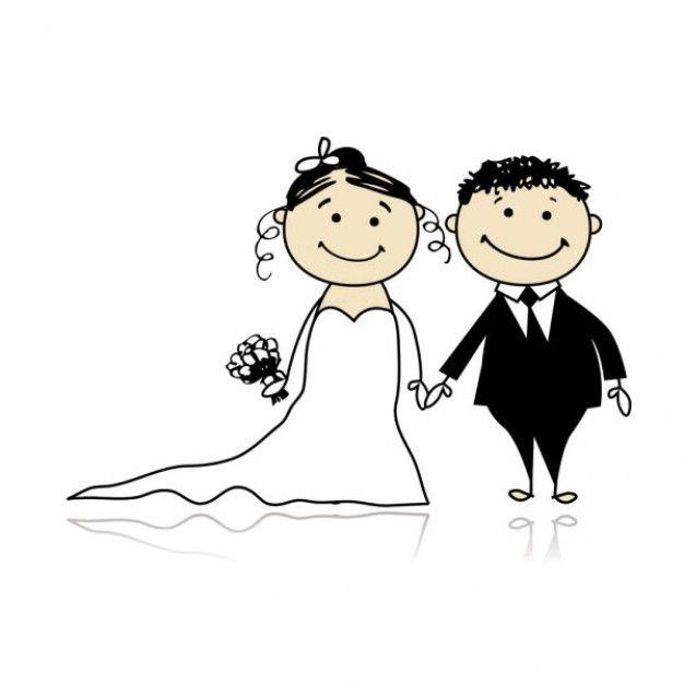 Wedding clipart cartoon Get clipart married clipart married
