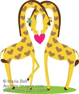 K.o.p.e.l. clipart giraffe Love in Couple Image in