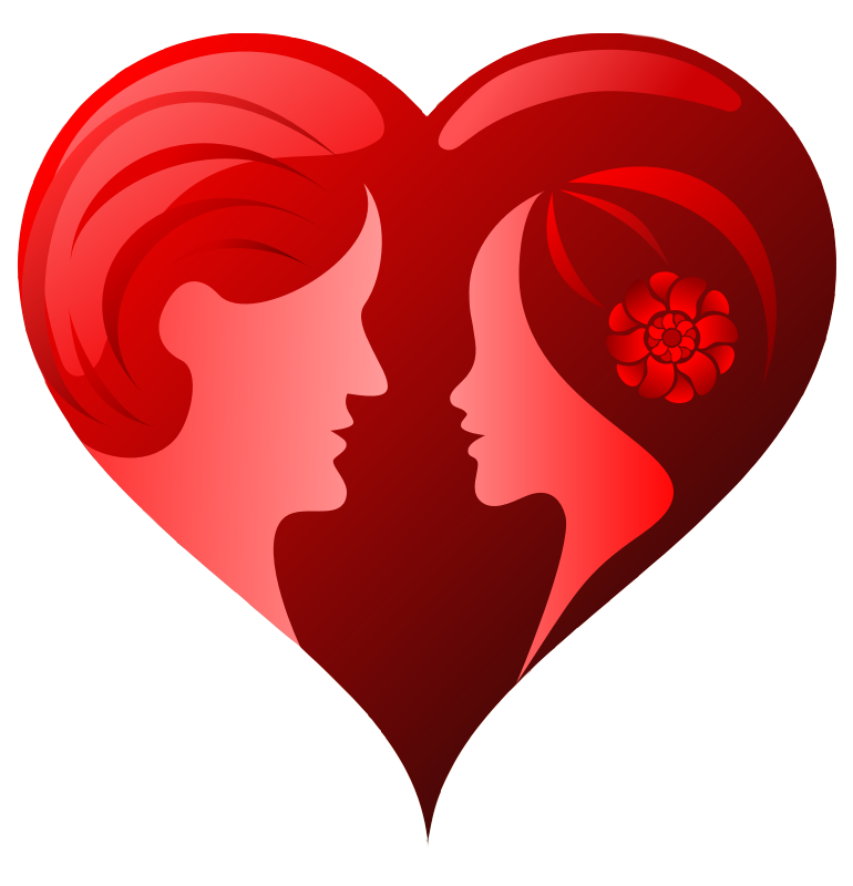 Couple clipart heart Free Couple Heart  with