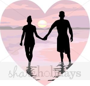 K.o.p.e.l. clipart heart Silhouette Valentine's Couple Clipart Couple