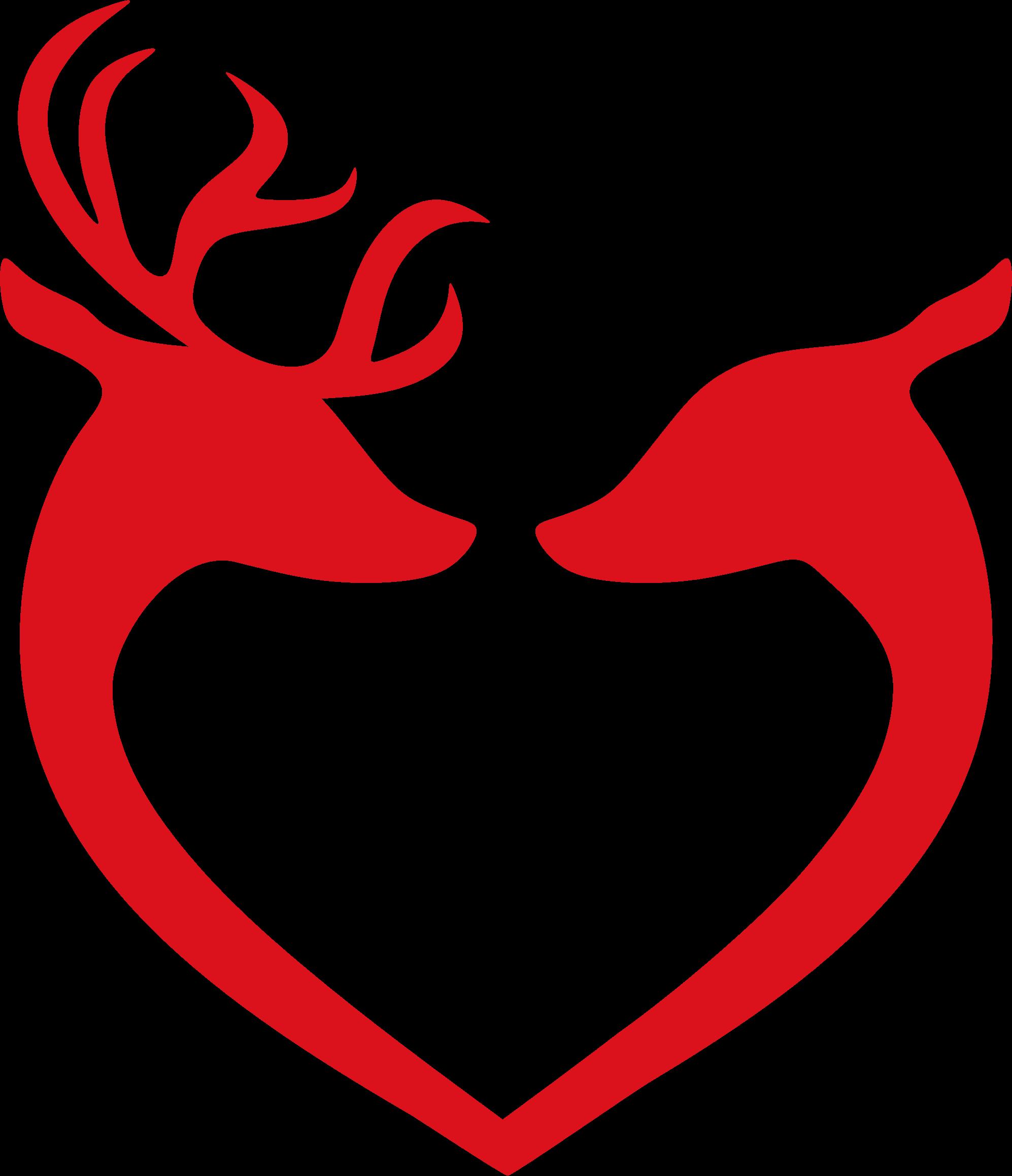 K.o.p.e.l. clipart heart Clipart Silhouette Couple Silhouette Deer