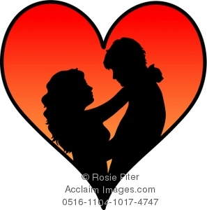 Couple clipart heart A Heart Illustration Silhouetted a