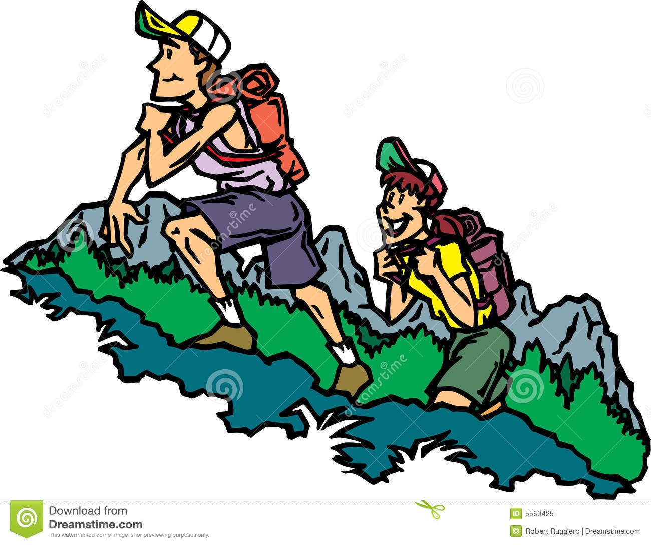 Scary clipart hiker #2