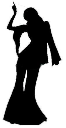 K.o.p.e.l. clipart human shadow Discos taarten Female Cutou Dancer