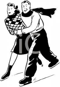 Kopel clipart ice skating Ice A Couple Clipart Picture