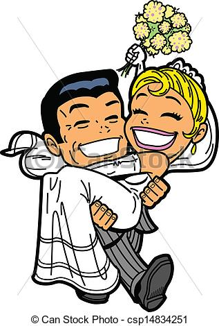 Kopel clipart just married Couple Clipart csp14834251 csp14834251 Happy