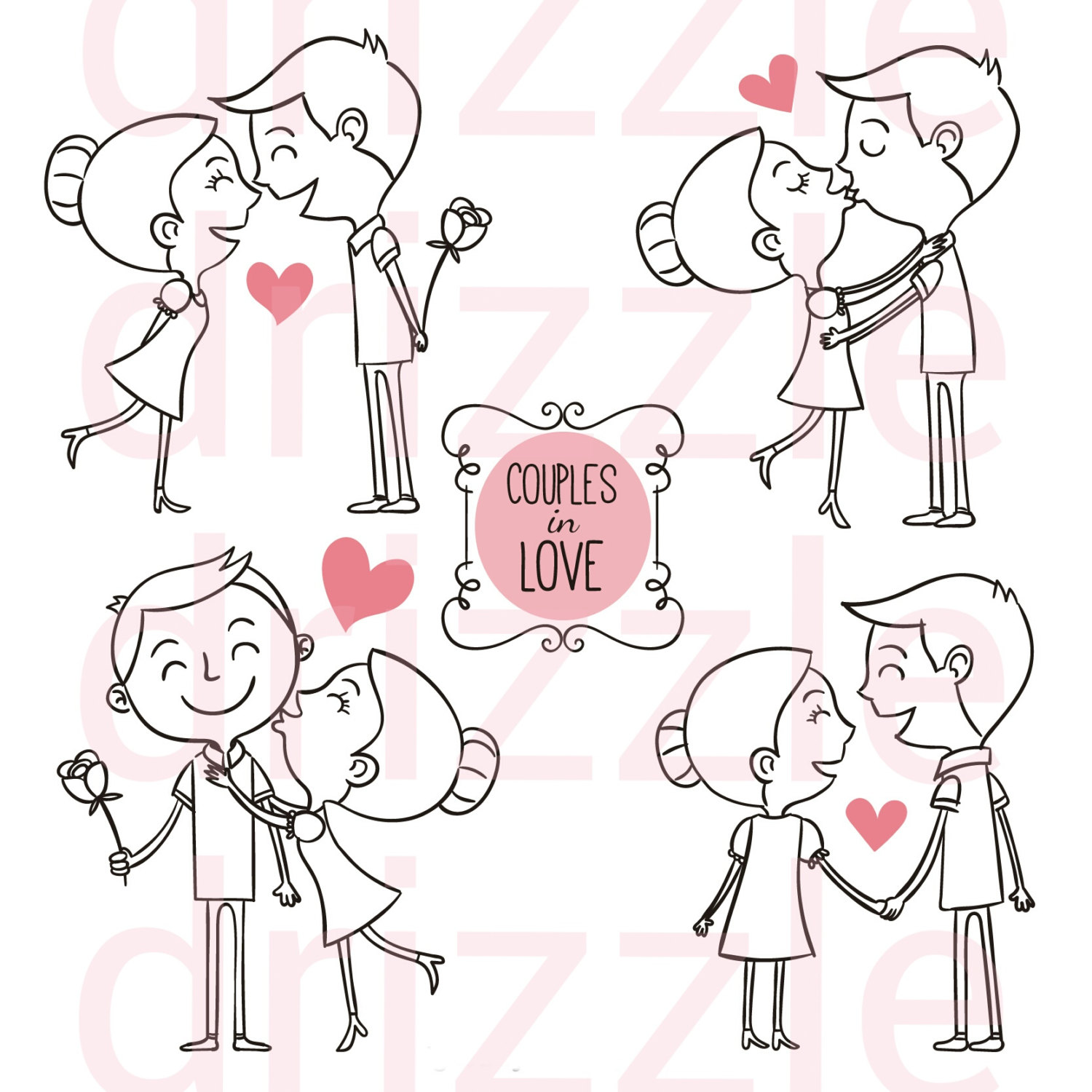 Kopel clipart kawaii Stickers This couple a digital