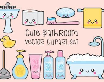 K.o.p.e.l. clipart kawaii Clipart Quality Kawaii Set Bathroom