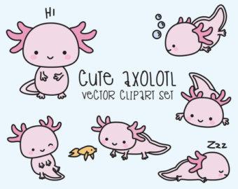 K.o.p.e.l. clipart kawaii Cute Premium Axolotl Quality Axolotls