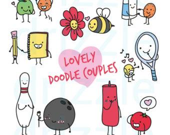 K.o.p.e.l. clipart kawaii Clipart couple doodle cute couple