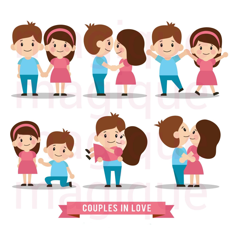 K.o.p.e.l. clipart kawaii Couple love stickers couple file