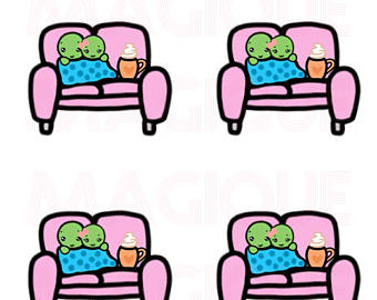 Kopel clipart kawaii Couple couple stickers couple stickers