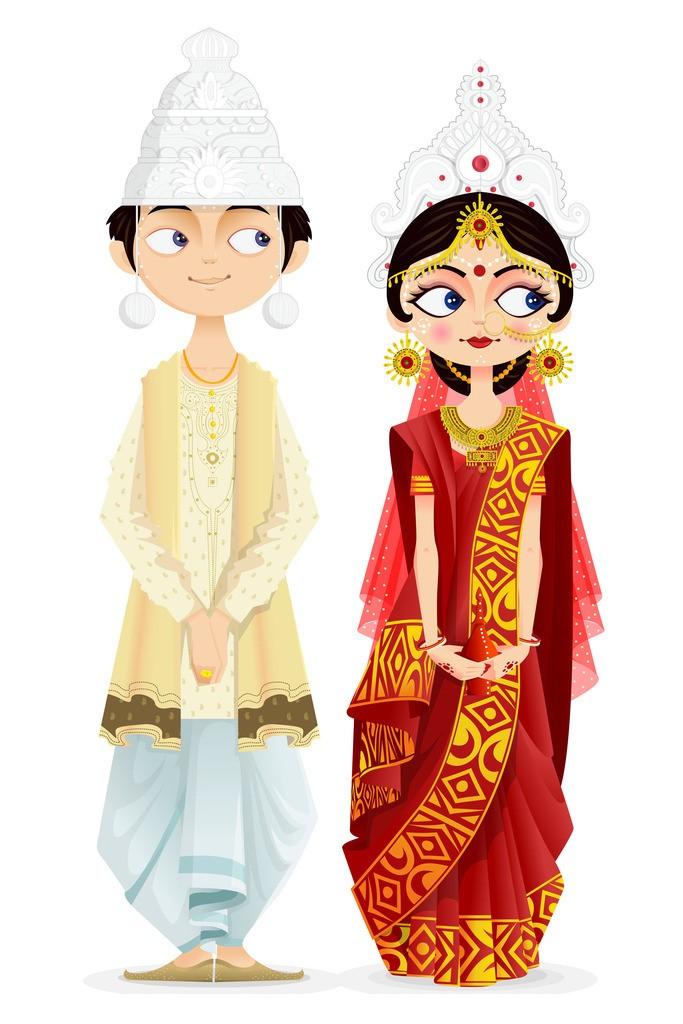Coture clipart indian couple Från individu on alla