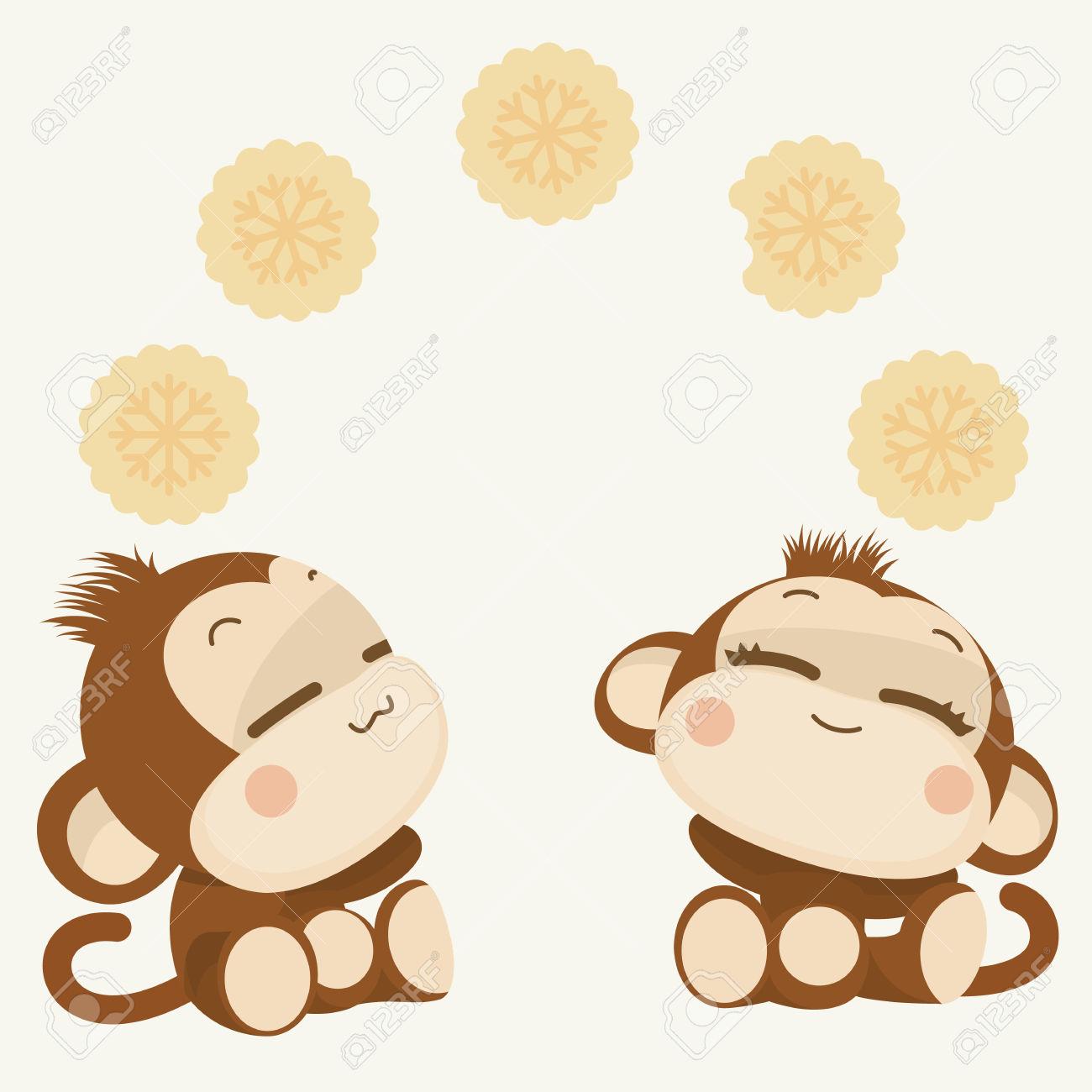 Kopel clipart monkey Cute Couple New New Lovely
