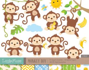 Kopel clipart monkey Papers Monkey art clip Digital