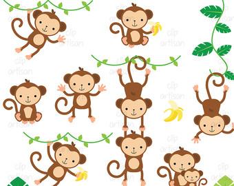 Safari clipart baby monkey #14