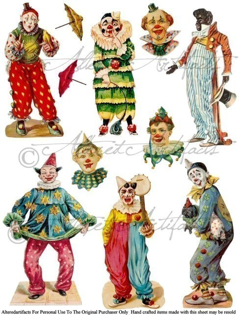 Kopel clipart old fashioned Search Google clown antiques circus