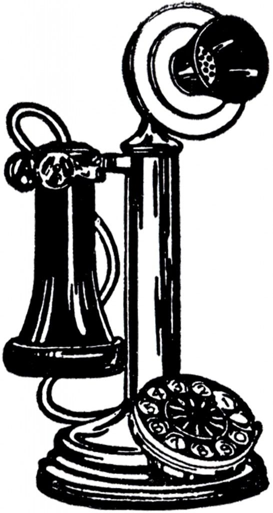 Kopel clipart old fashioned Best 205 Telephone Clip