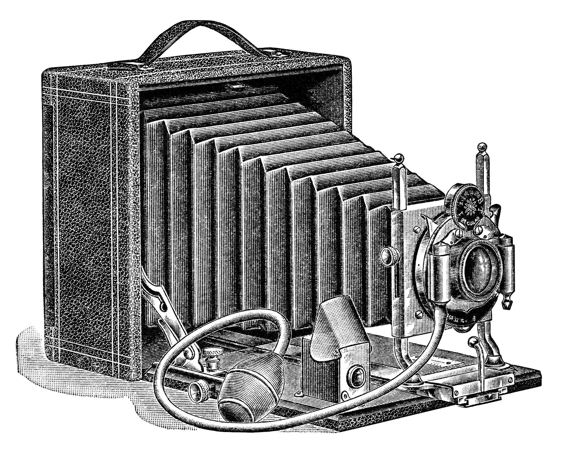 Kopel clipart old fashioned Camera fashioned ephemera white Antique