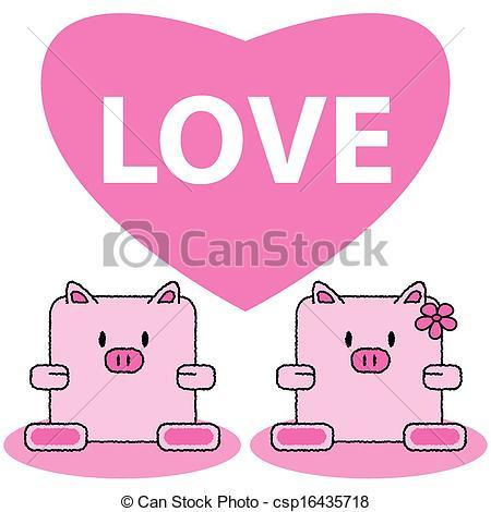 Kopel clipart pig In love couple in love