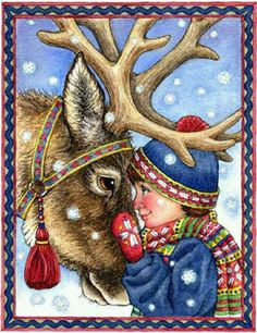 K.o.p.e.l. clipart reindeer Couple Happy  Hands Beach