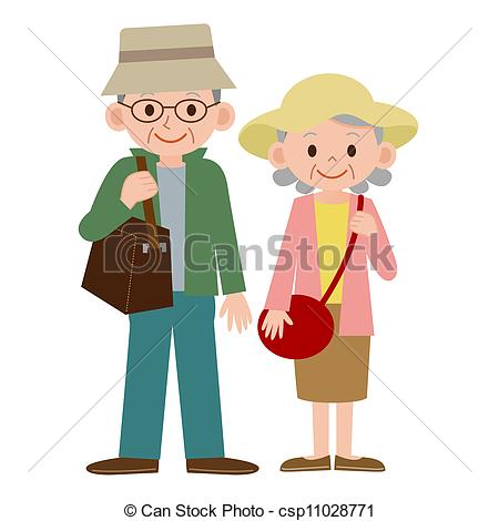 Kopel clipart retired Of couple  Search Illustrations