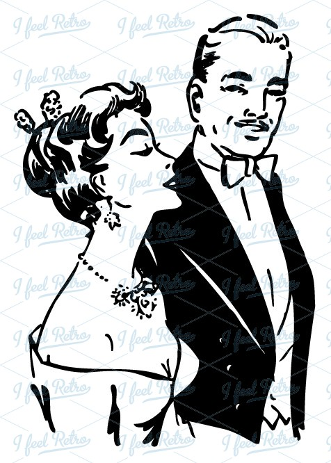 K.o.p.e.l. clipart retro Couple Vintage couple  Clipart: