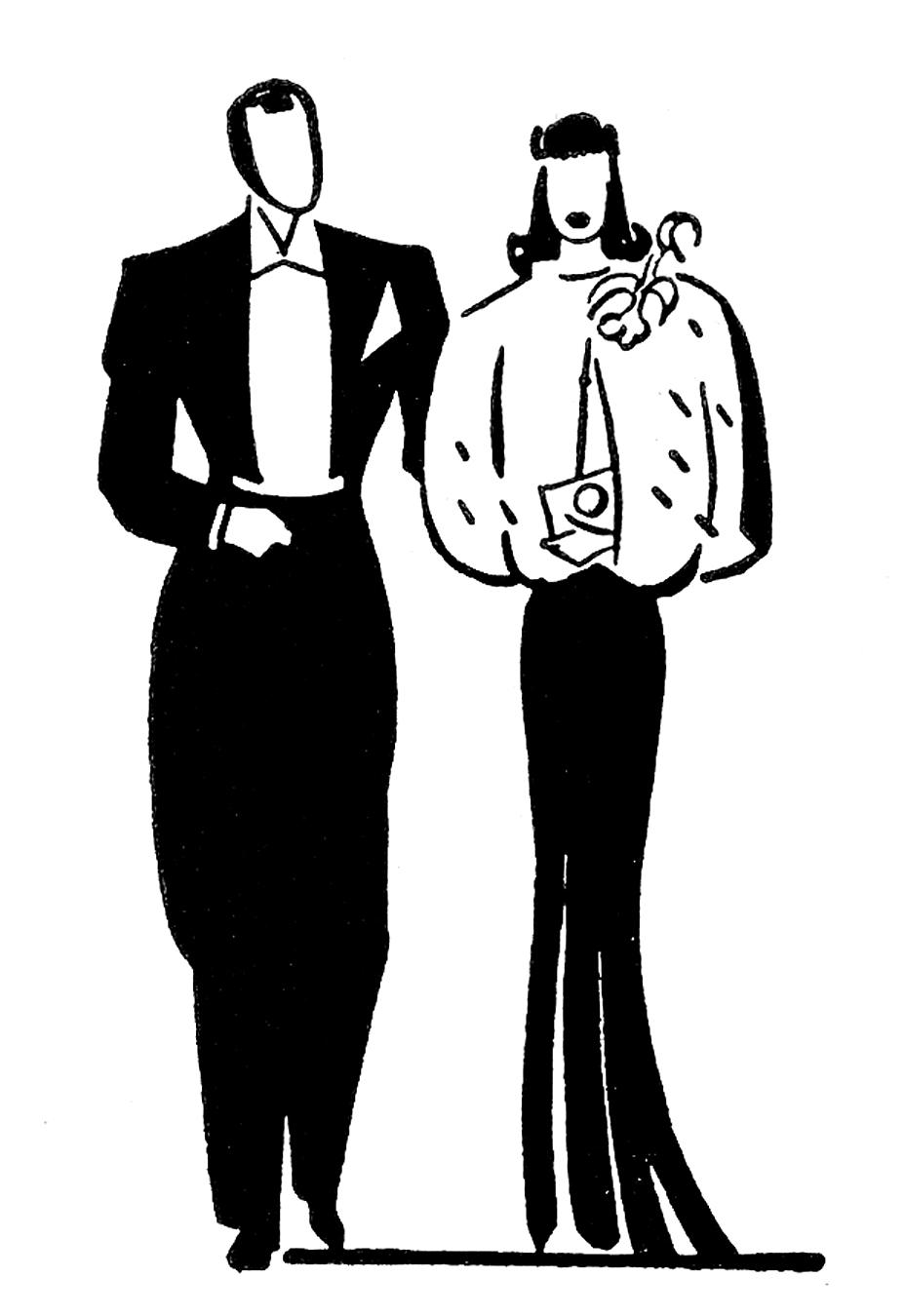 Kopel clipart retro Clip Couples Anniversary Retro –