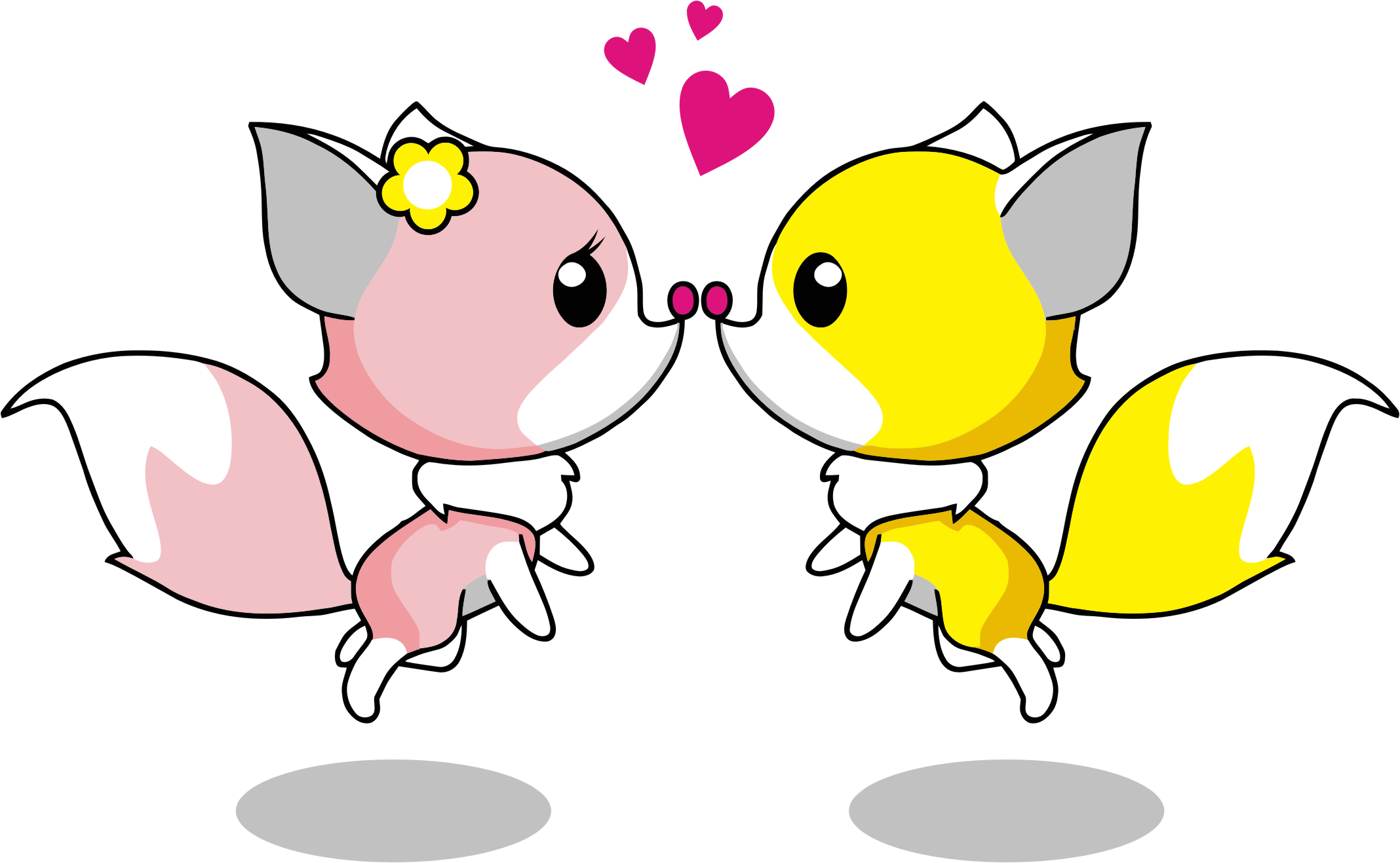 Kopel clipart romance Cartoon Foxes Foxes Clipart Couple