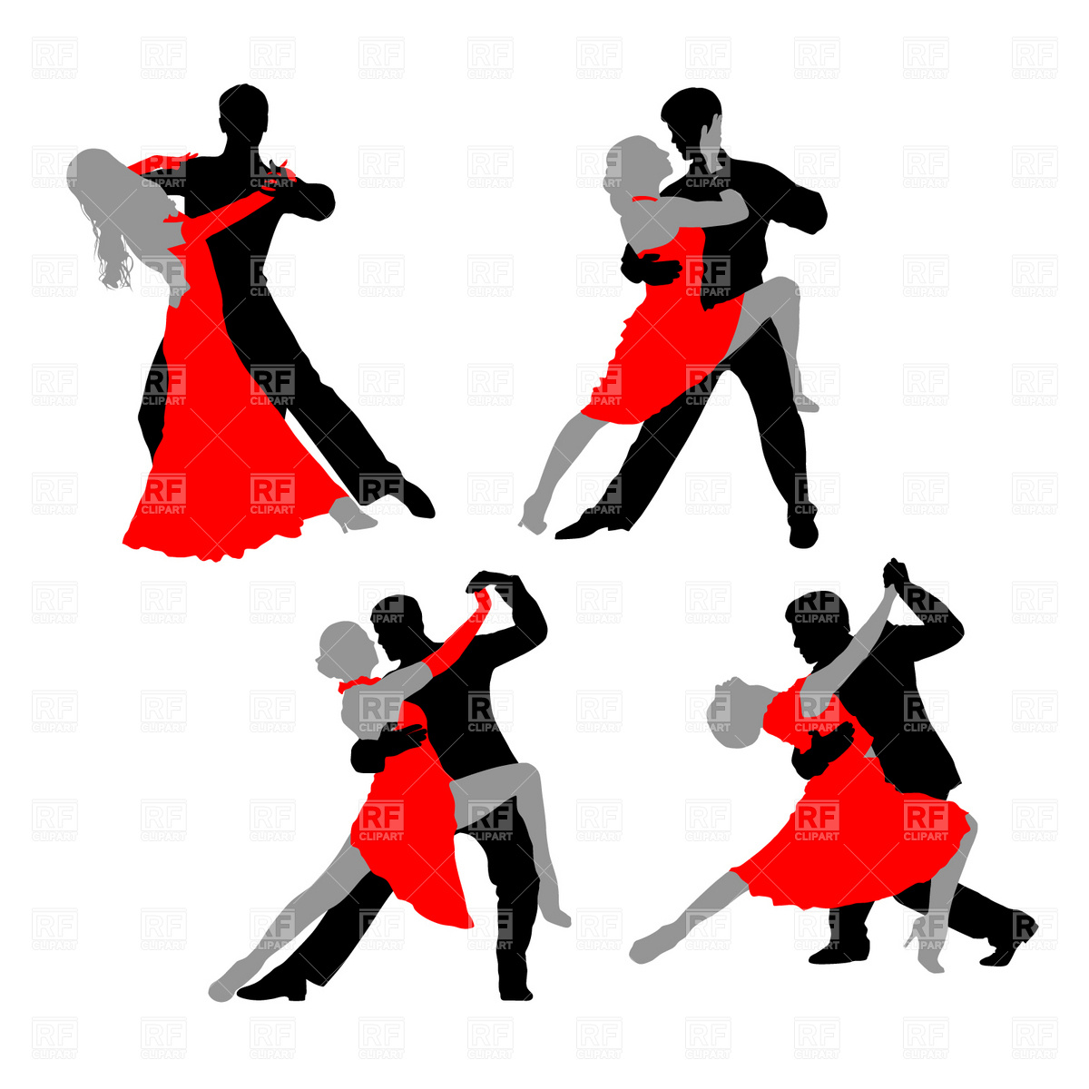 Latin clipart salsa music Silhouette  Dance couple clipart