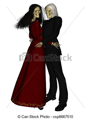 Kopel clipart skeleton Dancing Couple dance Stock Skeleton