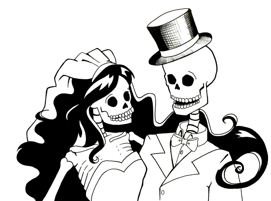 Zombie clipart bride and groom Groom and Art library: Sareidia