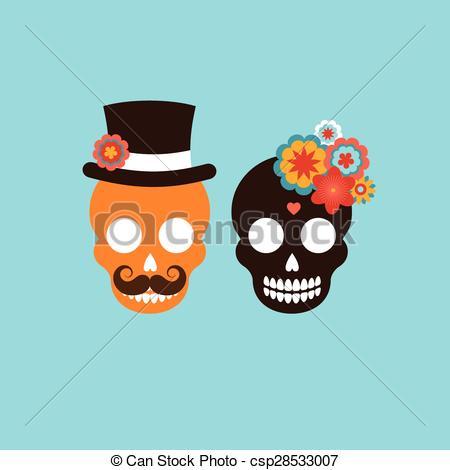 Ssckull clipart couple Skull csp28533007 of skull Vector
