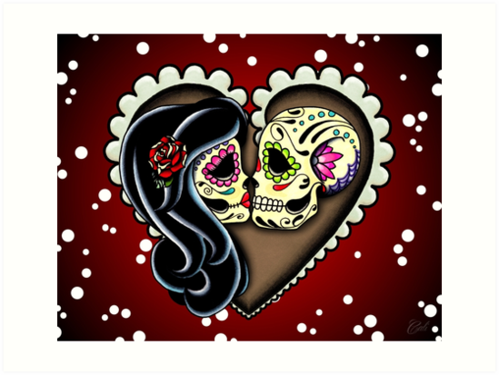 Ssckull clipart couple By prettyinink Dead Art Skull