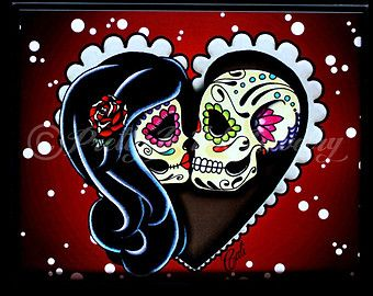 Day Of The Dead clipart grave Tattoo Day couple skull sugar