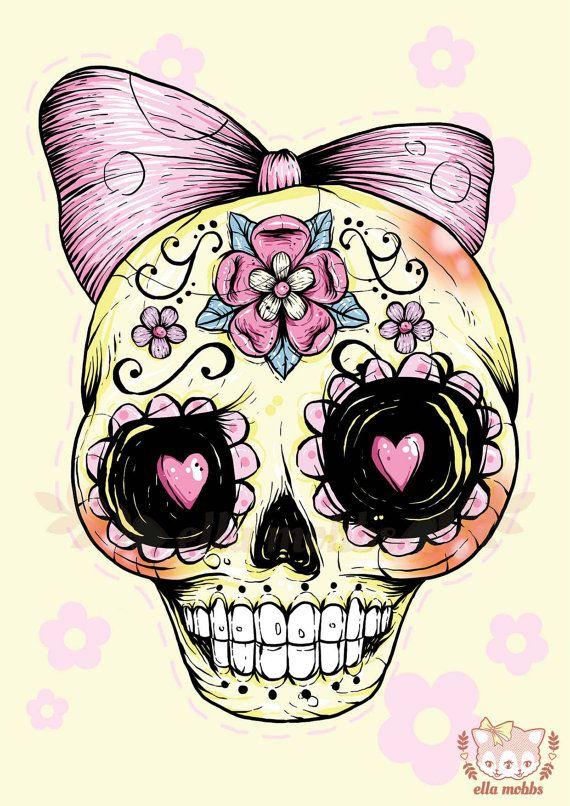 Ssckull clipart couple Gothic Tattoo Printable DIY Skull