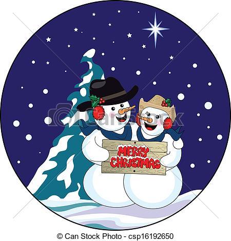 Kopel clipart snowman Christmas Vector Snowman vector csp16192650
