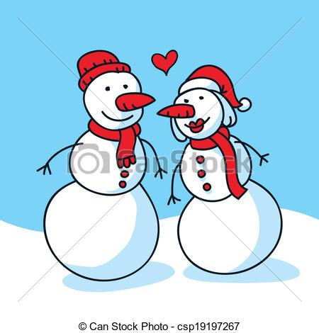Kopel clipart snowman Vector Clip Couple in Love