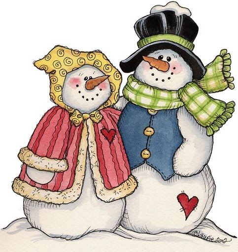 Kopel clipart snowman #colored #christmas couple images #holiday