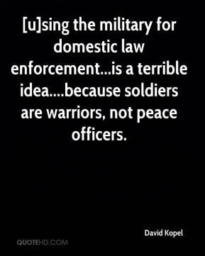 Kopel clipart soldier Page domestic David enforcement Kopel