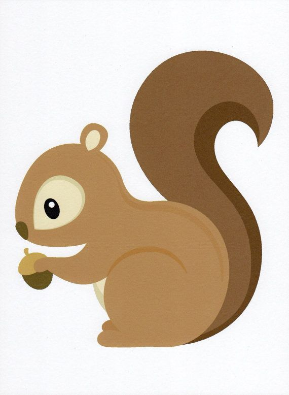 K.o.p.e.l. clipart squirrel Art Nursery Art Squirrel illustration