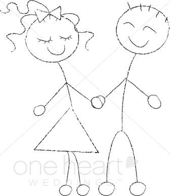 Kisses clipart stick figure Figure Clipart Wedding Cartoon Clipart