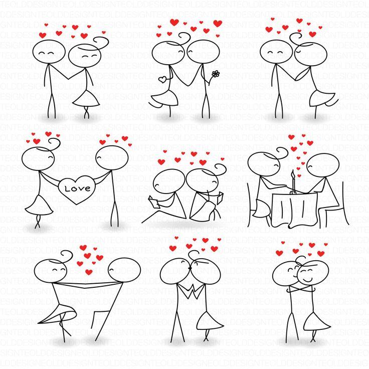 Kisses clipart stick figure Figure Instant Clip Clipart Stick