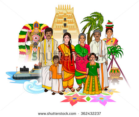 Wedding clipart tamilnadu Tamil showing family of family