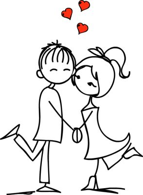 Romantic clipart lover #8