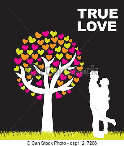 K.o.p.e.l. clipart true love True Vector  black under