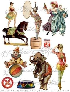 Kopel clipart old age Eiffel Circus Vintage/ clowns