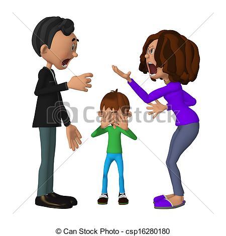 Violence clipart unhappy family – Sad Clipart Family Family